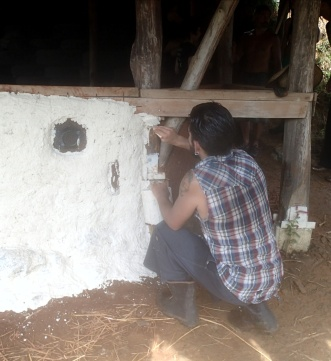 Applying cob