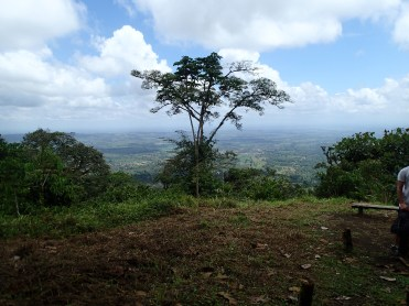 View from the back of Cerra Chato over the north to Nicaragua border, and La Fortuna town