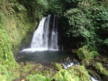 Waterfalls behind Cerro Chato
