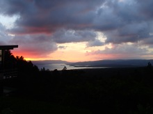 Sunset over lake Arenal from the Arenal Volcano Observatory