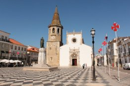 Medieval church and other architecture - town square Tomar