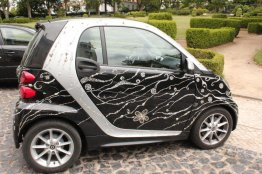 Smart car with Diamante Decals