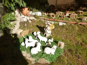 The nativity scene in town