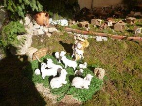 The nativity scene in town