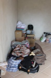Hectic moving in