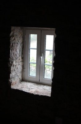 Windows in stone walls