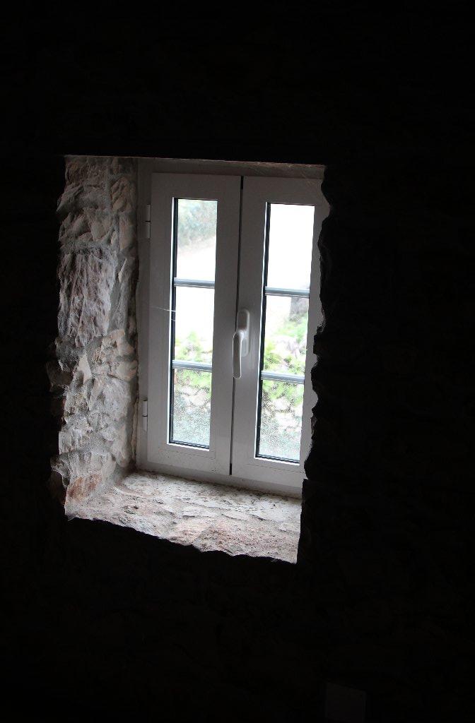 Windows in stone walls